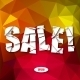 Sale Cut Paper Poster on Bright Background - GraphicRiver Item for Sale