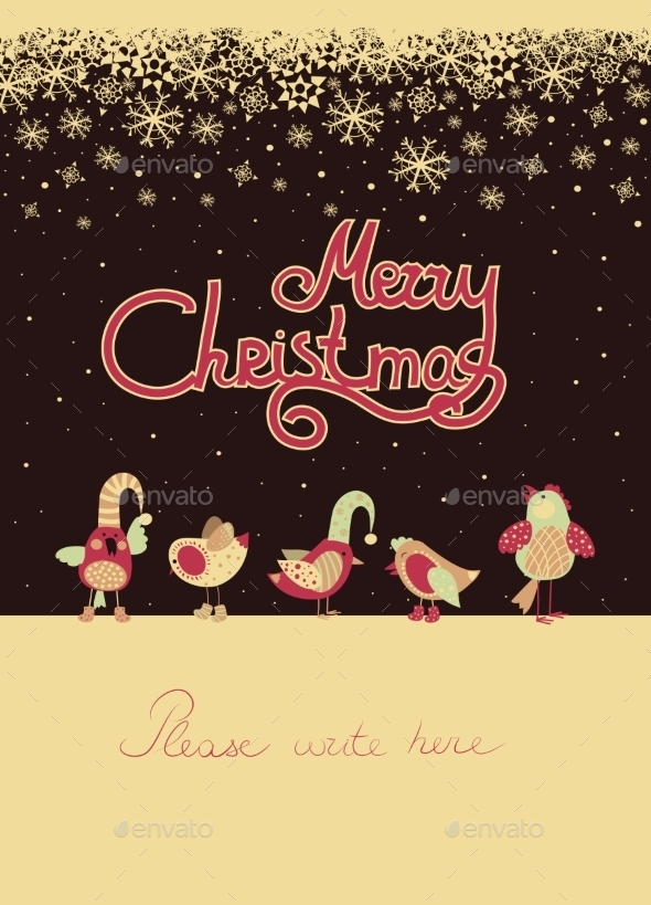 Birds Celebrating Christmas