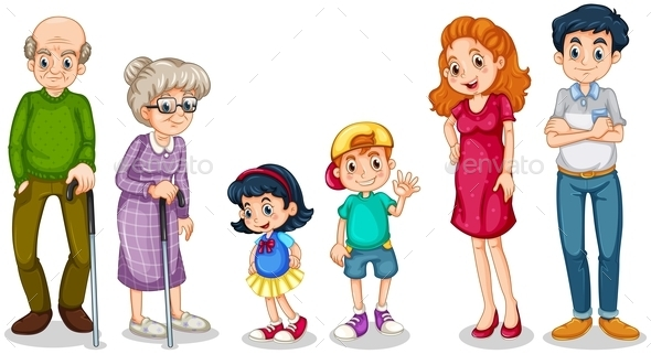 Family with their Grandparents