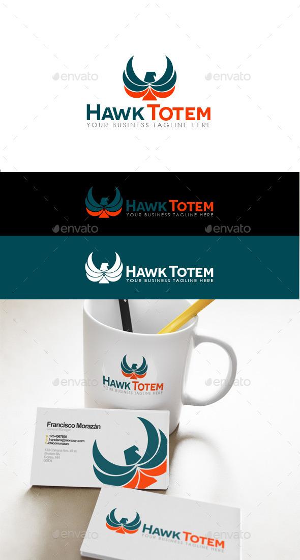 Hawk Totem Logo