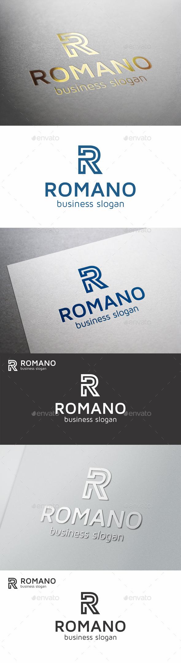 R Letter Monogram Logo - Romano