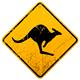 Kangaroo Vintage Sign - GraphicRiver Item for Sale