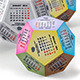 Calendar 2015 - Dodecahedron  - GraphicRiver Item for Sale