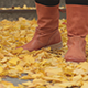 Legs and Autumn Leaves - VideoHive Item for Sale