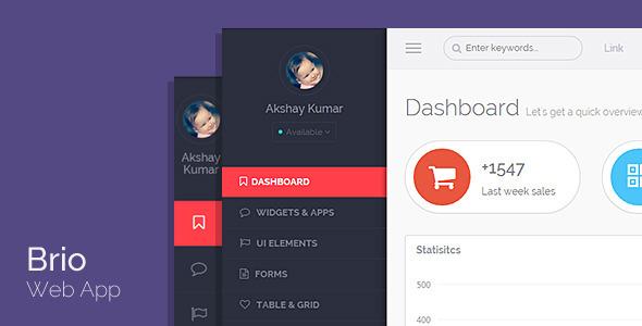 Brio Web App - Bootstrap Admin Template Dashboard