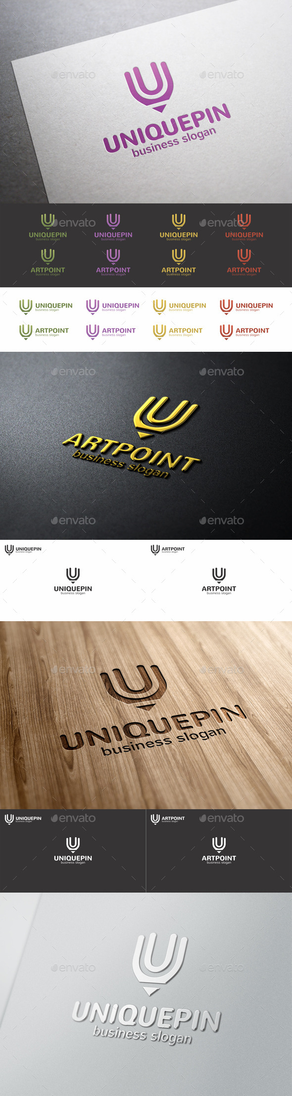 Unique Pin Art Point Logo