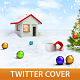 Merry Christmas Twitter Profile Cover - GraphicRiver Item for Sale
