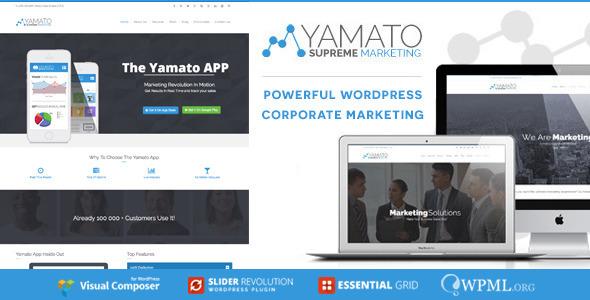 YAMATO - Corporate Marketing Wordpress Theme