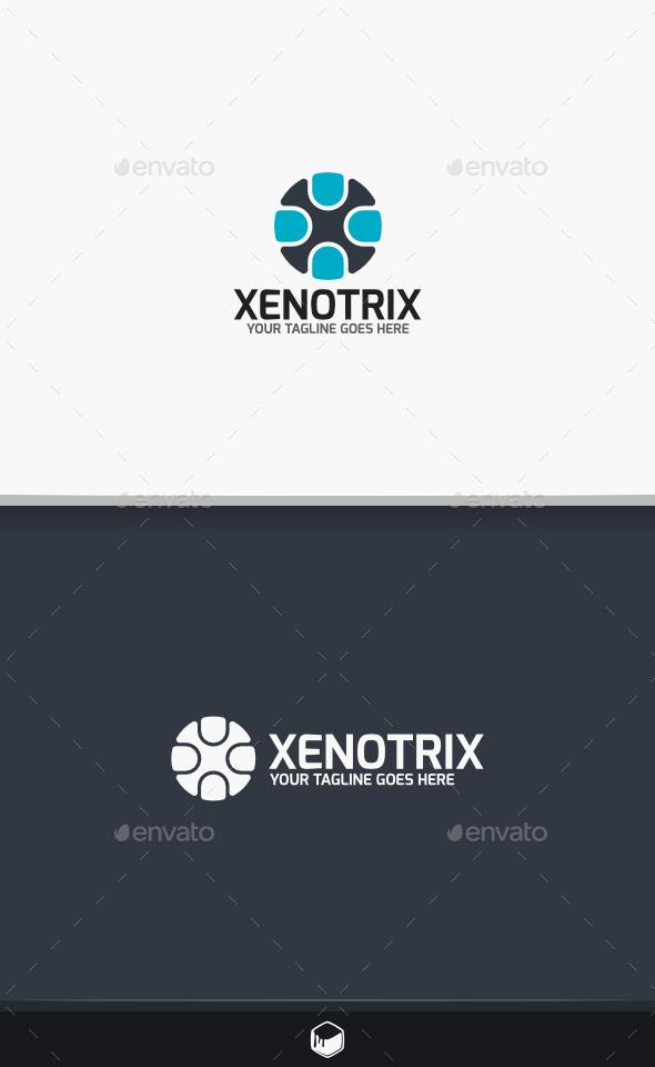 Xenotrix Letter X Logo