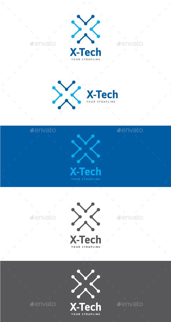 X-Tech Letter X Logo