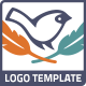 Bird Feather Hipster Logo - GraphicRiver Item for Sale