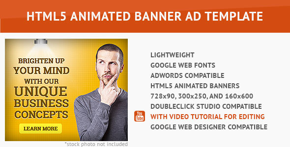 Corporate Ad - HTML5 Animated Banner Download
