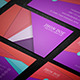 Material Design Business Card Template - GraphicRiver Item for Sale