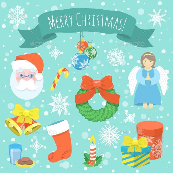 Colorful Christmas Symbols