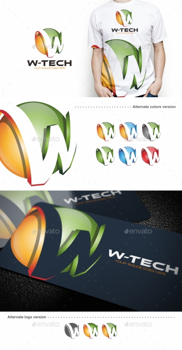 W-tech / W Letter - Logo Template