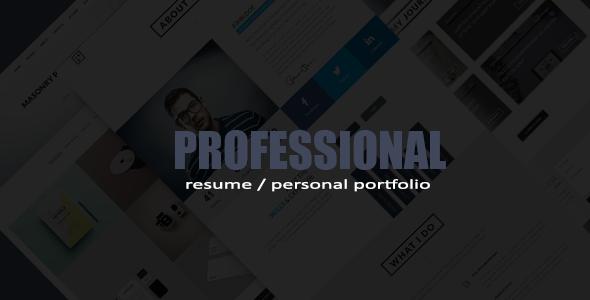 Professional Resume / Portfolio HTML Template