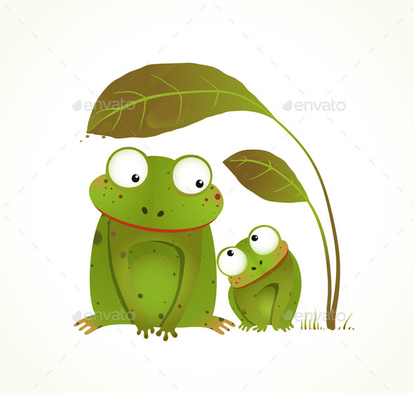 Two Frogs Mother and Baby