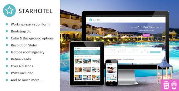 Starhotel – Responsive Hotel Booking Template