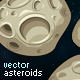 Set of Vector Asteroids Sprites - GraphicRiver Item for Sale
