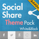 Social Share & Locker Pro Theme Pack (W&B) - CodeCanyon Item for Sale
