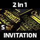 2 in 1 Elegant Invitation: Birthday and Christening/Baptism - GraphicRiver Item for Sale