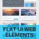 Flat UI Web Elements - GraphicRiver Item for Sale