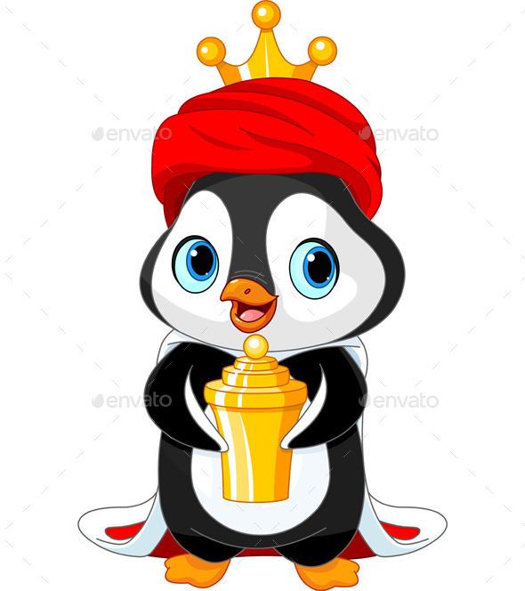 Penguin as a Biblical Magi