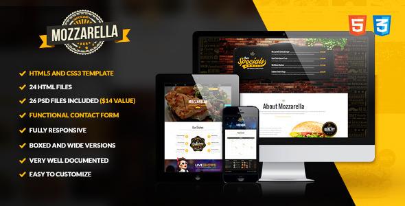 Mozzarella - HTML5 and CSS3 Cafe Bar Template
