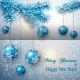 Christmas Greeting Card with Tree Branch  - GraphicRiver Item for Sale