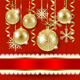 Christmas Illustration with Baubles in Gold - GraphicRiver Item for Sale