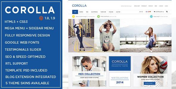 Corolla - Music Store Responsive Magento Theme