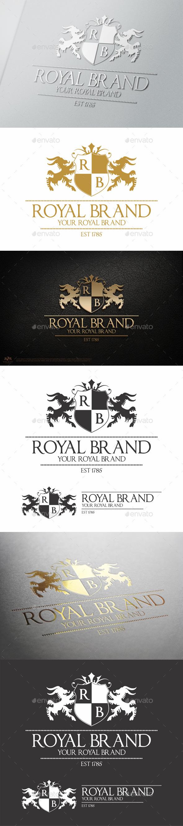 Heraldic Royal Brand Crest Logo