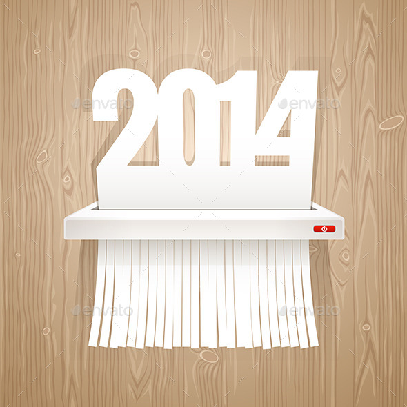 Paper 2014 is Cut into Shredder