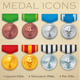 Military Medal Icons - GraphicRiver Item for Sale