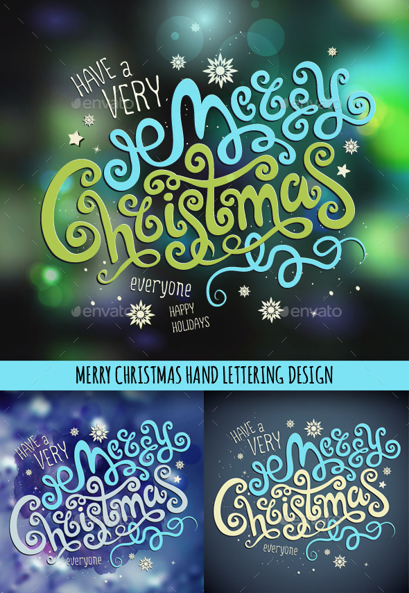 Christmas Hand Lettering Set