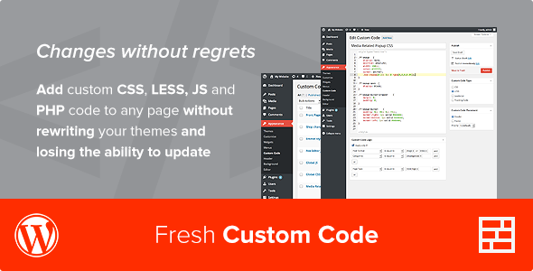 Fresh Custom Code - CSS/JS/PHP - WordPress Plugin Download