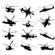 Helicopter Silhouettes Set - GraphicRiver Item for Sale