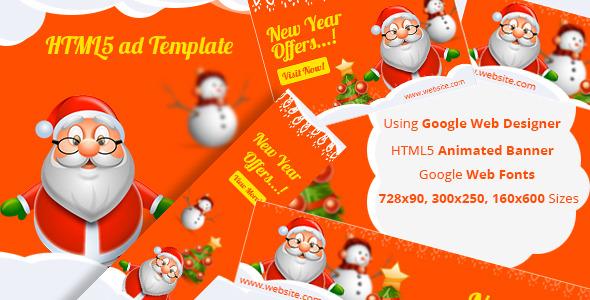 NewYear - HTML5 ad template