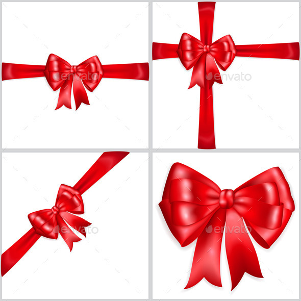 Bows Made of Red Ribbons