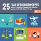 25 Flat Design Concepts Set 1 - GraphicRiver Item for Sale
