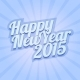 Happy New Year 2015 on Blue Background - GraphicRiver Item for Sale