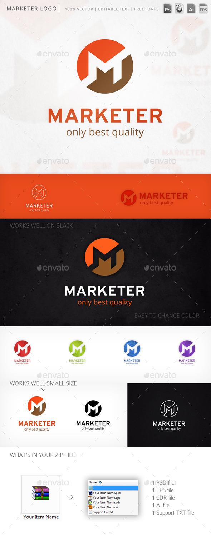 Marketer Letter M Logo Template