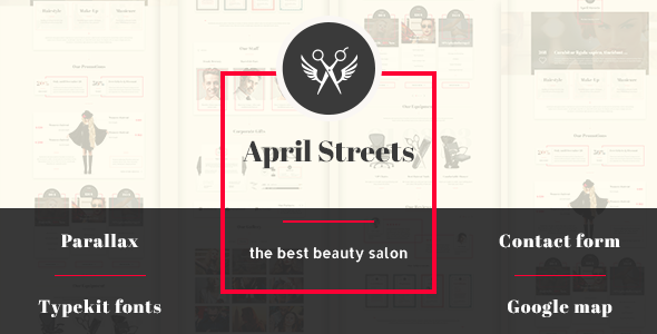 April Streets- Hair, Spa, Manicure - Muse Template