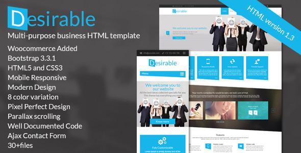 Desirable -  The Multi-Purpose HTML5 Business Template