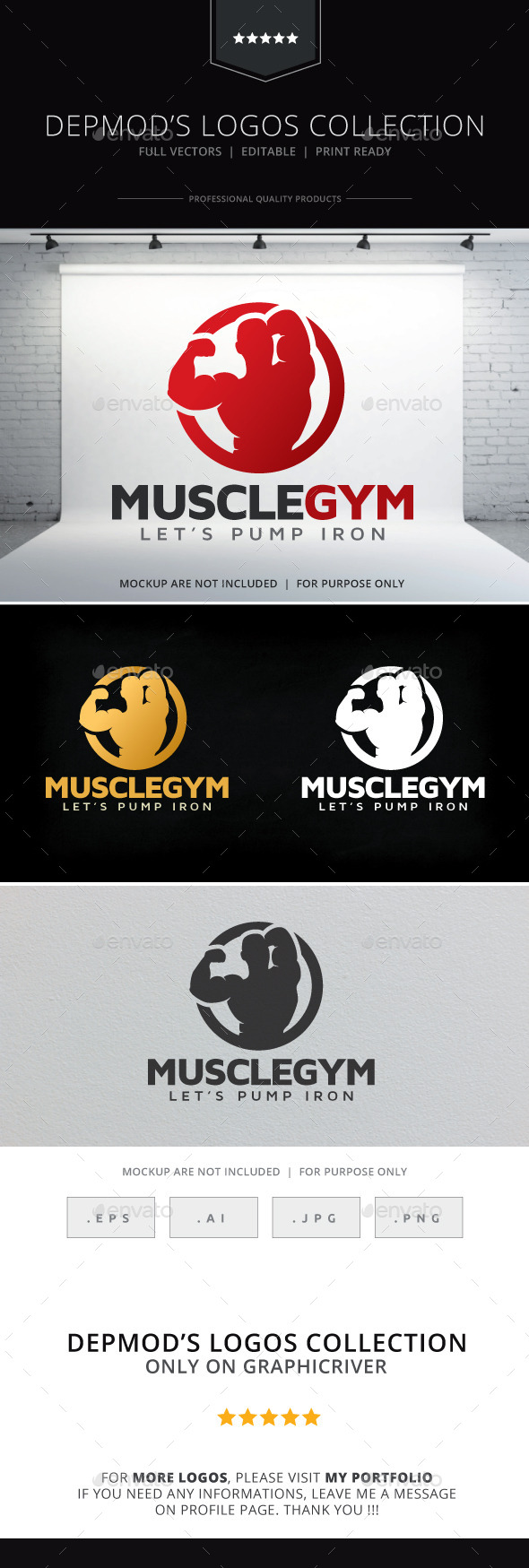 Muscle Gym Logo