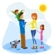 Family Enjoying a Winter Day - GraphicRiver Item for Sale