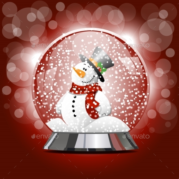 Globe with a Snowman