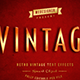 Retro / Vintage Text Effects V.1 - GraphicRiver Item for Sale