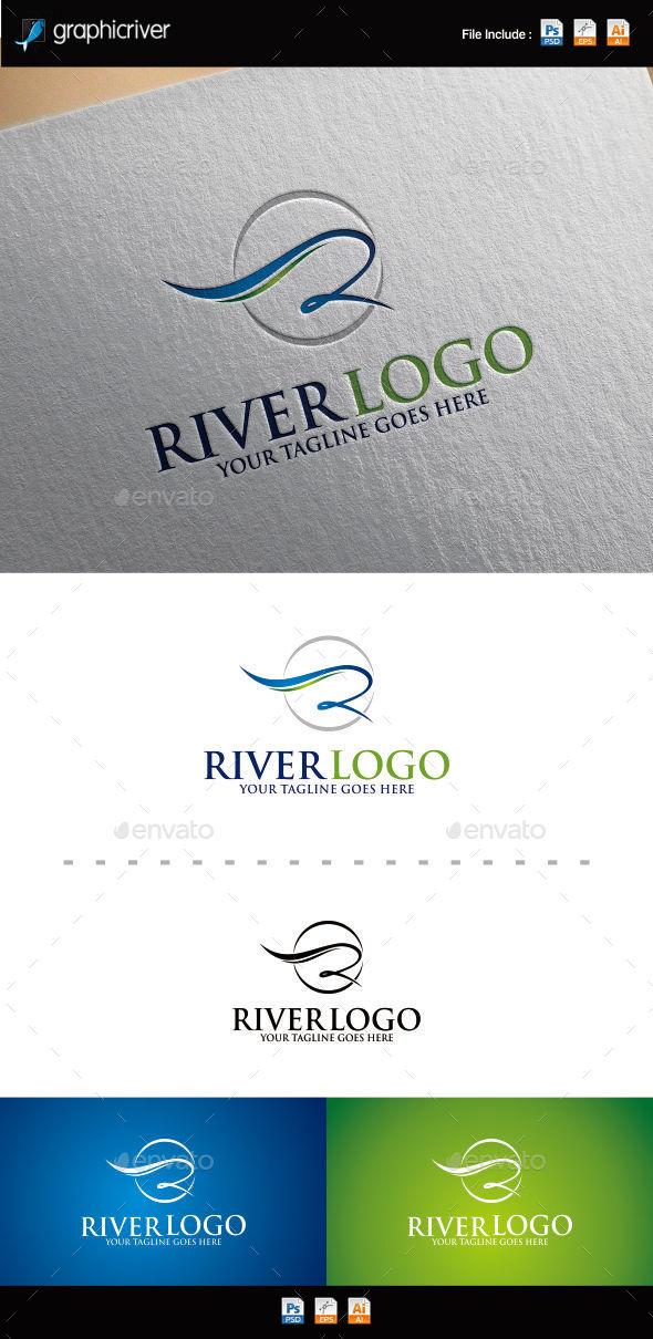 Letter R   River Logo