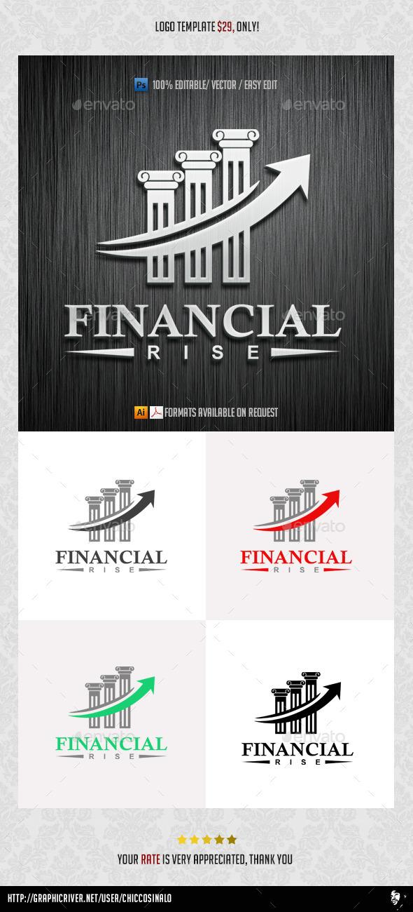 Financial Rise Logo Template